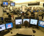 The New York City newsroom of the Associated Press