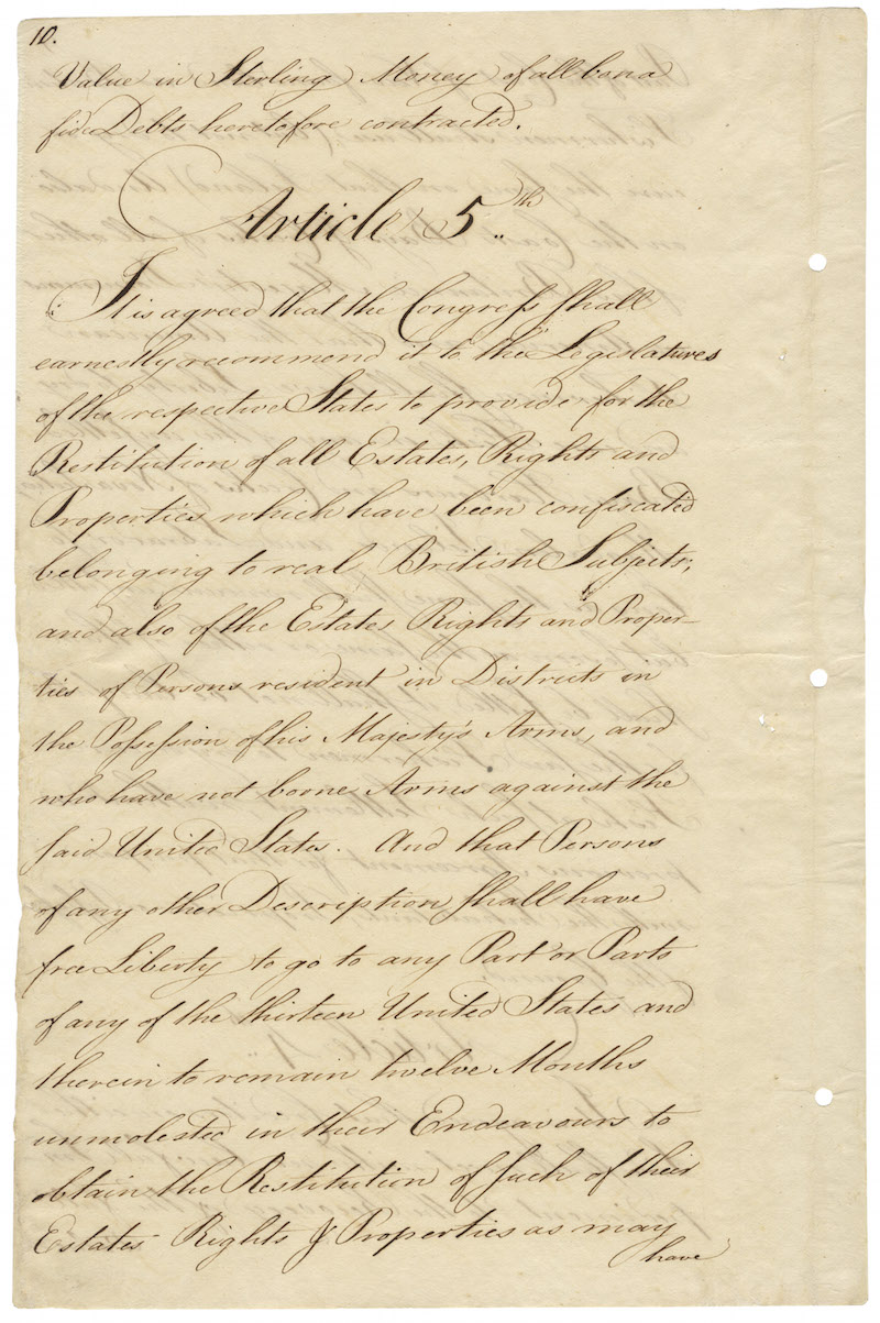 "The U.S. National Archives, ""Treaty of Paris"""